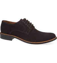 Kurt Geiger Albert Suede Derby Shoes Navy