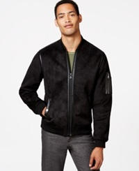 Sean John Faux Shearling Baseball Jacket