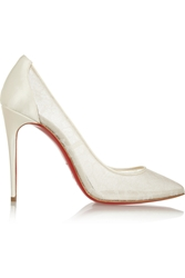 Christian Louboutin Pigalace 100 Satin And Lace Pumps