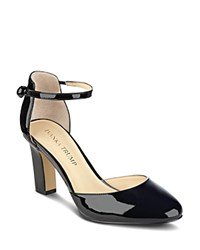 Ivanka Trump Berea Ankle Strap High Heel Pumps Black