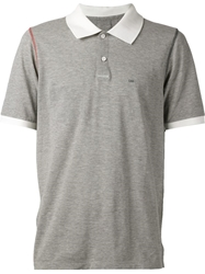 Band Of Outsiders Contrast Collar Polo Shirt Grey