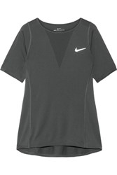 Nike Zonal Cooling Relay Dri Fit Stretch And Mesh Top Anthracite