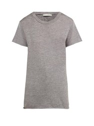 Queene And Belle Cashmere And Silk Jersey T Shirt Grey