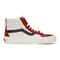 Vans Red And Off White Sk8 Hi Reissue Vi Sneakers