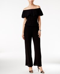 Inc International Concepts Off The Shoulder Wide Leg Jumpsuit Only At Macy's Deep Black