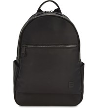 Replay Logo Faux Leather Backpack Black