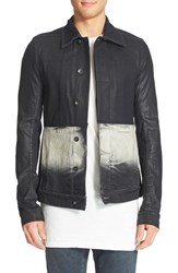 Men's Rick Owens Drkshdw Degrade Denim Work Jacket