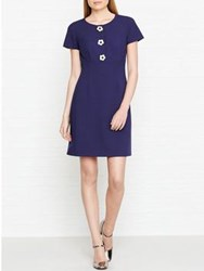Hobbs July Daisy Button Dress French Blue