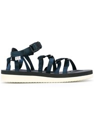 Suicoke Strappy Sandals Women Polyester Rubber 8 Blue