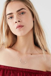 Urban Outfitters Crescent Moon Delicate Necklace Gold