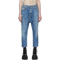 R 13 R13 Blue Tailored Drop Jeans