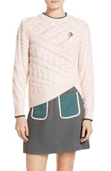 Ted Baker Women's London Charo Cable Knit Wrap Front Sweater
