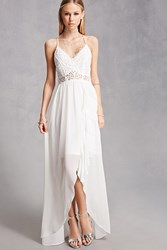 Forever 21 Soieblu Chiffon High Low Dress