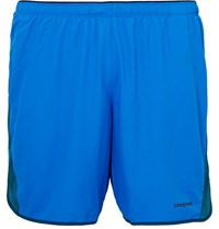 Patagonia Strider Shell And Mesh Shorts Bright Blue