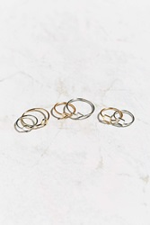 Urban Outfitters Many Shapes Layering Ring Gold