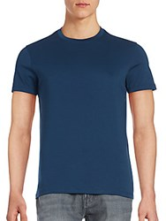 Saks Fifth Avenue Crewneck Pima Cotton Tee Ocean