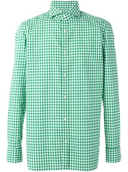 Borrelli Checked Shirt Green