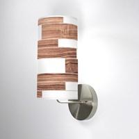 Jefdesigns Tile 3 Wall Sconce Jd_Tile3_Walnut_Soma Walnut Brown