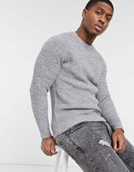 Esprit Chunky Knit Jumper In Grey
