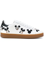 Moa Master Of Arts Mickey Mouse Sneakers Cotton Leather Rubber White