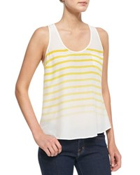 Joie Rain B Striped Silk Tank Summer Sun