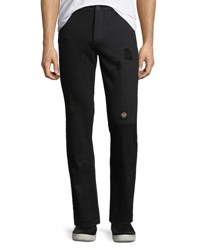Ovadia And Sons Earth Distressed Pants Black