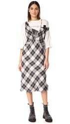 R 13 R13 Overlay Dress With Boyfriend Tee Grey Plaid