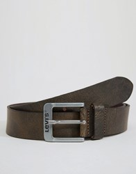 Levi's Classic Leather Belt In Brown Brown