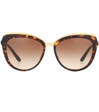 Dolce And Gabbana Cat Eye Sunglasses Brown
