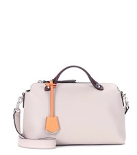 Fendi By The Way Small Leather Tote Grey