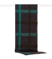 Reiss Elise Oversized Check Scarf In Navy Teal Navy Teal
