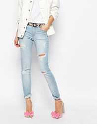 Vivienne Westwood Anglomania Skinny Jeans With Distressing Blue