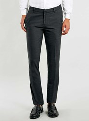 Topman Charcoal Ultra Skinny Trousers Grey