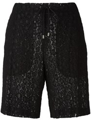 Giamba Lace Drawstring Shorts Black