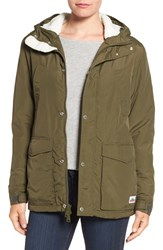 Penfield Women's 'Hosston' Faux Shearling Lined Hooded Jacket Olive
