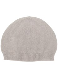 Rick Owens Knitted Beanie Nude And Neutrals