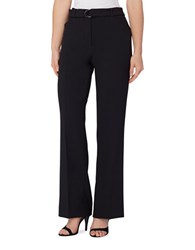 Tahari By Arthur S. Levine Petite D Ring Waistband Trouser Pants Navy