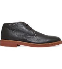 Ermenegildo Zegna Trivero Leather Chukka Boots Brown