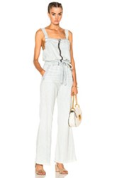 Nsf Bailey Jumpsuit In Blue Stripes White Blue Stripes White