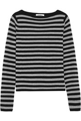Max Mara Striped Cashmere Sweater Black