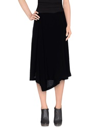 Ann Demeulemeester Knee Length Skirts Black
