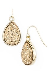 Marcia Moran Drusy Teardrop Earrings Metallic