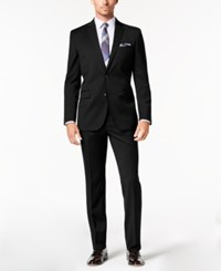 Kenneth Cole New York Slim Fit Stretch Performance Solid Travel Suit Black