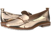 Lfl By Lust For Life Sport Gold Leather Women's Dress Flat Shoes