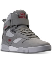 Supra Men's Bleeker High Top Casual Sneakers From Finish Line Grey Grey