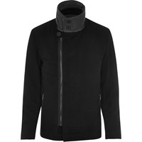 Vito River Island Mens Black Turtleneck Jacket