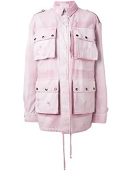 Faith Connexion Oversized Military Jacket Pink And Purple