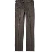 Freemans Sporting Club Connery Cotton Corduroy Trousers Dark Gray