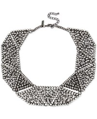 Inc International Concepts Hematite Tone Metallic Pave Geometric Statement Necklace Only At Macy's Gray