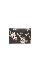 Givenchy Magnolia Moth Print Pouch In Black Floral Animal Print